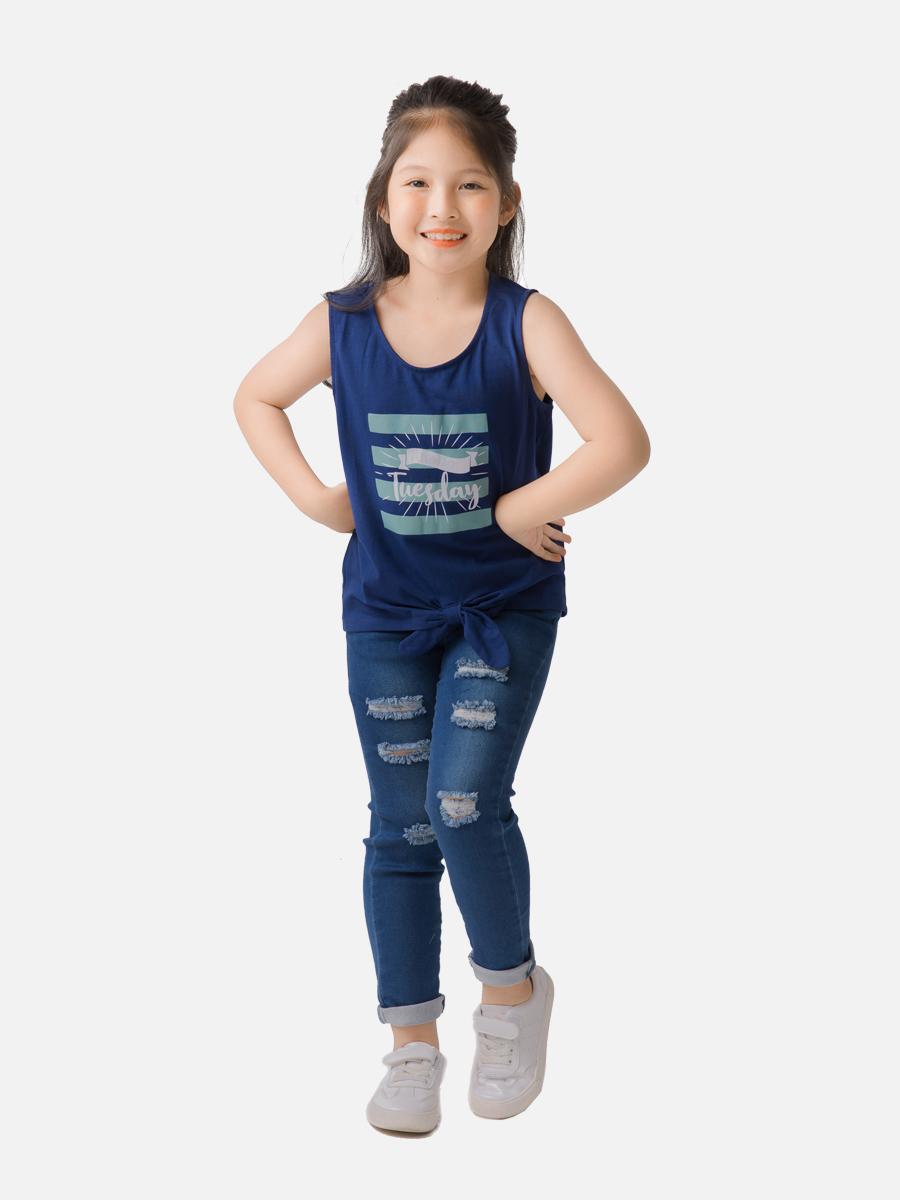Áo phông sát nách bé gái T100GSS20