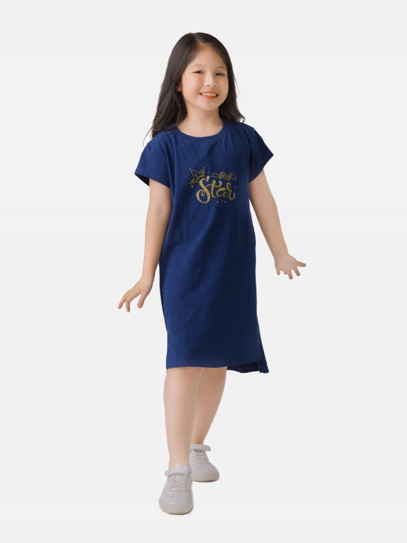 Váy xuông xẻ gấu trẻ em nữ Ardilla chất liệu Cotton in họa tiết đáng yêu T104GSS20
