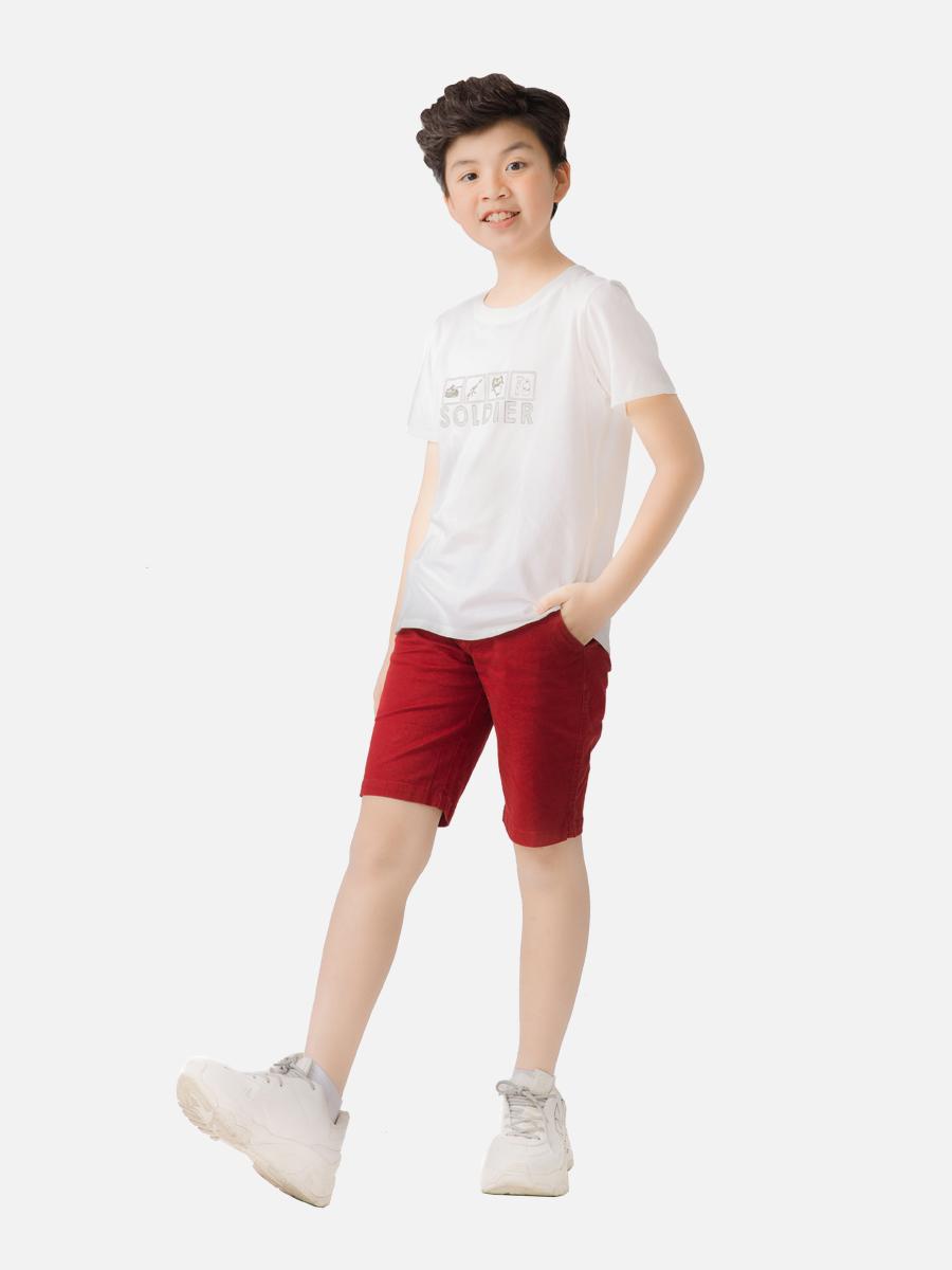 Áo thun bé trai ARDILLA in hình chú lính, chất liệu cotton, dệt kim cực mát T120BSS20
