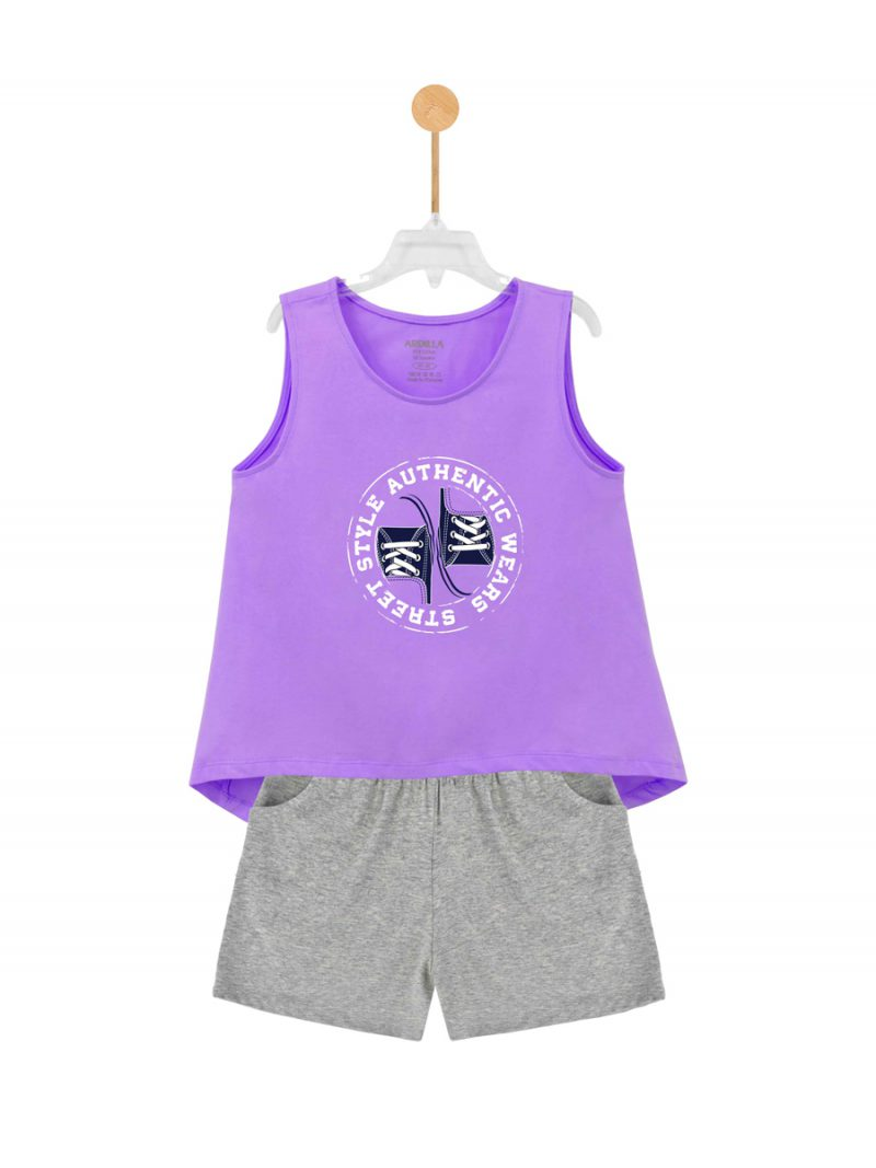 Bộ đồ mặc nhà bé gái ARDILLA chất liệu Cotton hình in Go Street Style T91GSS20